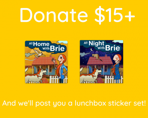 at home with brie sticker set
